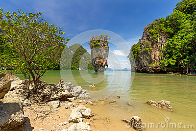 Ko Tapu rock on the James Bond Island