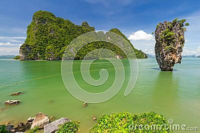 Ko Tapu rock on the Phang Nga Bay