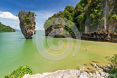 Ko Tapu rock on the Phang Nga Bay in Thailand