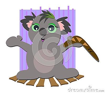 Koala Bear with Boomerang