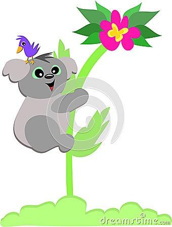 Koala Bear on a Flower