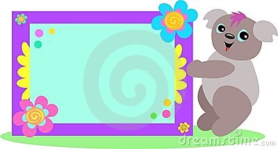 Koala with Spiral Floral Sign