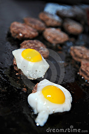 Kobe beef Sliders topped with quail egg