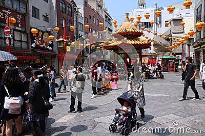 Kobe Chinatown Editorial Stock Photo