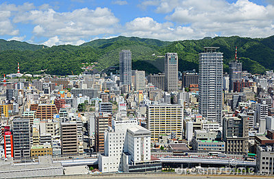 Kobe, Japan Cityscape Editorial Stock Photo