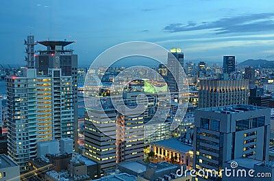 Kobe, Japan Skyline Editorial Stock Image