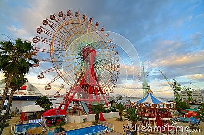 Kobe Mosaic Amusement Park Editorial Photo