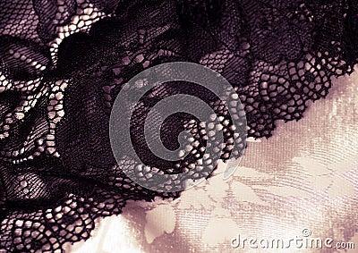 Kobiecy koronkowy underclothes tło