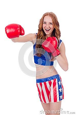 Kobieta bokser
