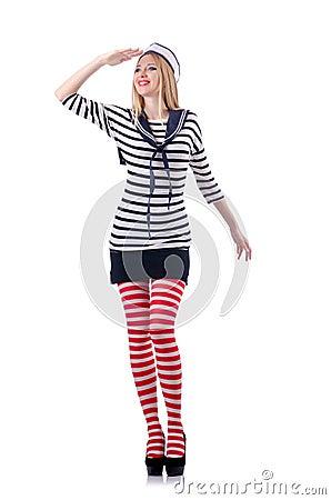 Kobieta żeglarz odizolowywający