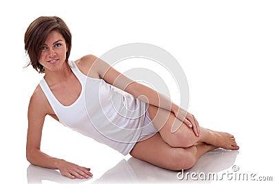 Kobieta odpoczynkowy trening