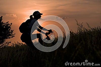 Kobieta rowerów