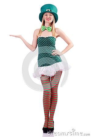 Kobieta w świątobliwym Patrick