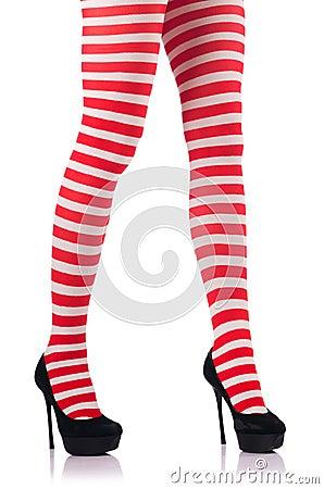 Kobieta z długimi nogami