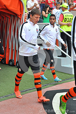 Kobin Vasyl and Alex Teixeira going to the field Editorial Image