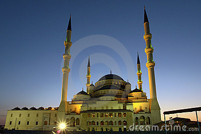 Kocatepe Mosque in Ankara - Turkey