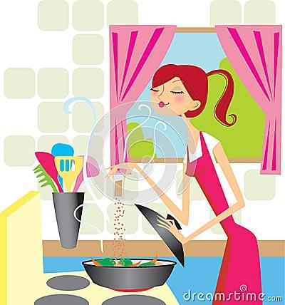 Kochen der Frau