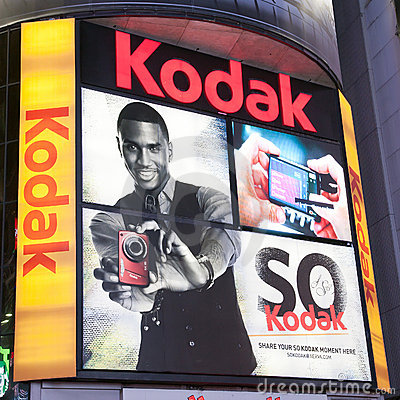 Free Kodak Advertising At Times Square Royalty Free Stock Photo - 19421395