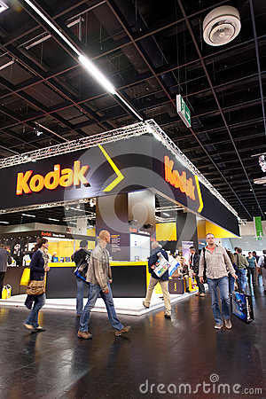 Kodak en Photokina 2012 Foto editorial