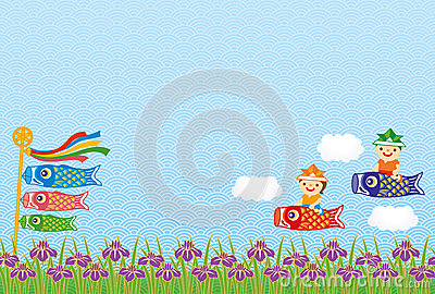 Kodomo-no-hi (Children's Day) background.