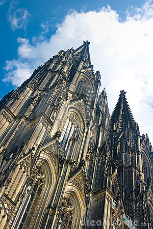 Koelner Dom Cologne Cathedral over blue sky