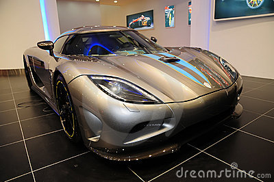 A Koenigsegg Agera supercar display at Auto Show  Editorial Photo