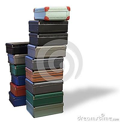 Koffers met schaduw