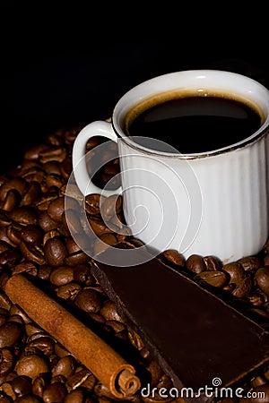 Koffie, chocolade en kaneel.