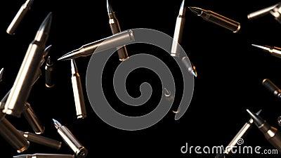 Kogels het Grote Vallen op Zwarte met Luma Matte Seamless Looping Background 4K stock illustratie