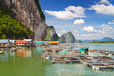 Koh Panyee fisherman village on Phang Nga Bay