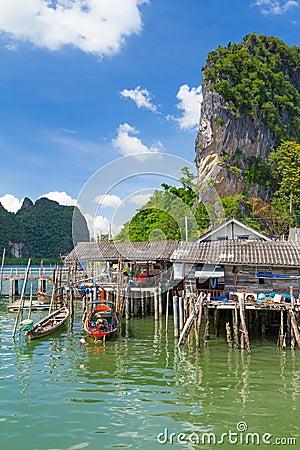 Koh Panyee fisherman village on Phang Nga Bay