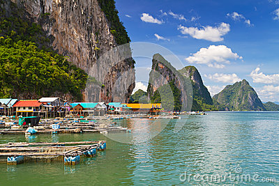Koh Panyee fisherman village in Thailand