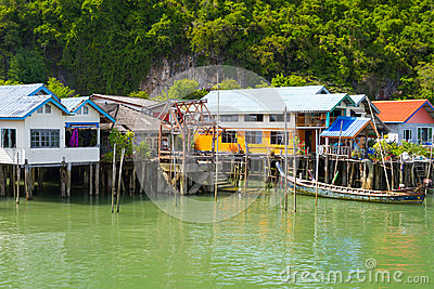 Koh Panyee settlement built on stilts in Thailand
