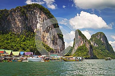 Koh Panyee village on Phang Nga Bay