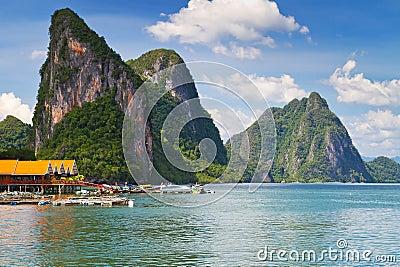 Koh Panyee village in Thailand