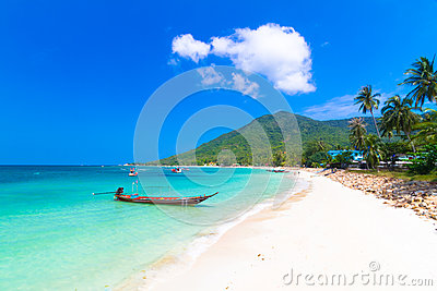 Koh Phangan , Phangan Tropical Island, paradise of Thailand.