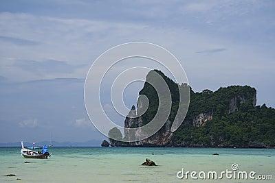 Koh phi phi longtail boat thailand