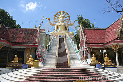 Big buddha temple koh samui thailand Editorial Stock Photo