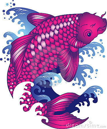 Free Koi Carp Tattoo Stock Photo - 19906030