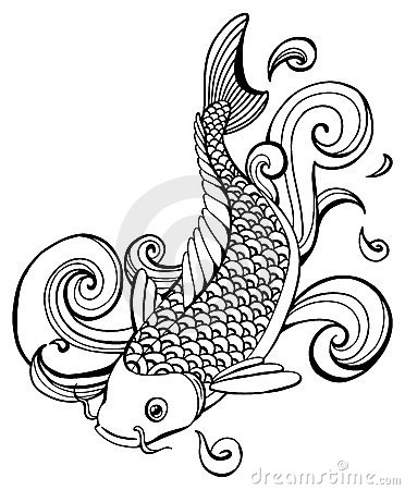 Clip Art Koi Fish Clipart koi stock illustrations 1345 vectors clipart dreamstime