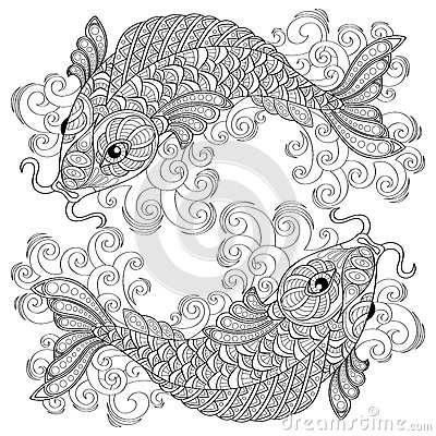 Koi Fish Art coloring page | Free Printable Coloring Pages | 400x400