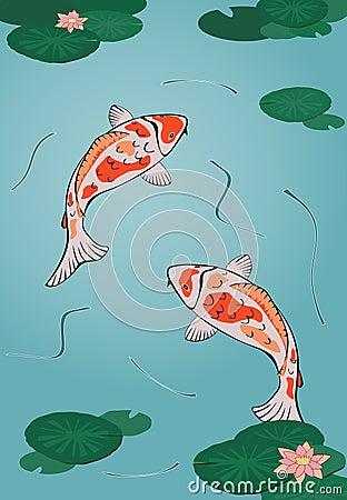 Koi Pond Clipart