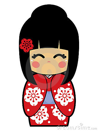 Free Kokeshi Doll Vector Royalty Free Stock Images - 15002259