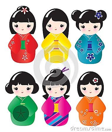 Free Kokeshi Dolls Stock Photos - 16717913
