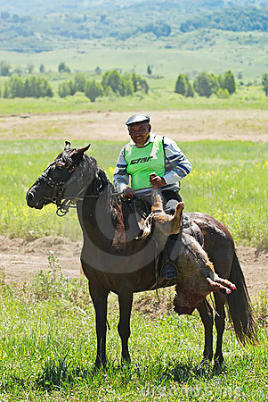 Kokpar - traditional nomad horses competitions Editorial Image