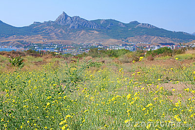 Koktebel, Karadag mountain and Black Sea, Crimea