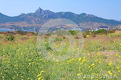 Koktebel, Karadag mountain and Black Sea, Crimea