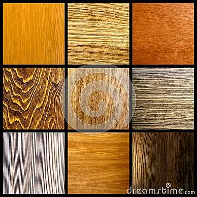 Kolażu drewno