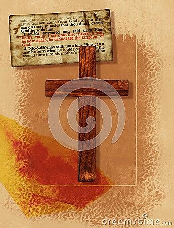 Kolażu krzyż