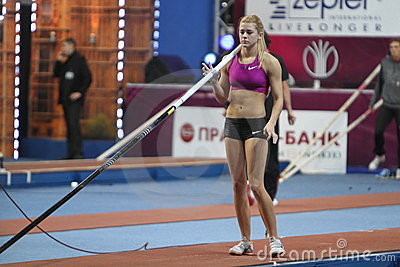 Kolasa Agnieszka - Polish pole vaulter Editorial Photography